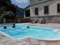 Bazén v areálu - chalupa k pronajmutí Božanov