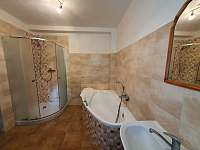 Koupelna - chalupa ubytování Svobodné Hamry