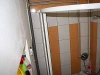 sprch. kout v koupelně - pronájem chaty Rybník