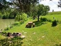 V zahradě u rybníka