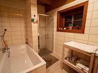 Koupelna - pronájem chalupy Velké Petrovice