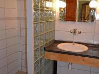 koupelna se sprchovým koutem a WC - chalupa k pronajmutí Vernéřovice
