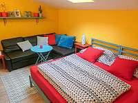 Dvoulůžkový pokoj s manželskou ložnicí a pohovkou - apartmán ubytování Libečov
