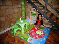 společenská místnost dětský koutek - apartmán 2 - Úpice-Radeč