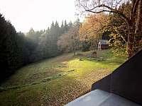 pohled z okna - pronájem chalupy Vysoká Srbská - Závrchy