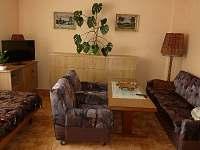 obývací pokoj-jedno lůžko a rozkl.gauč