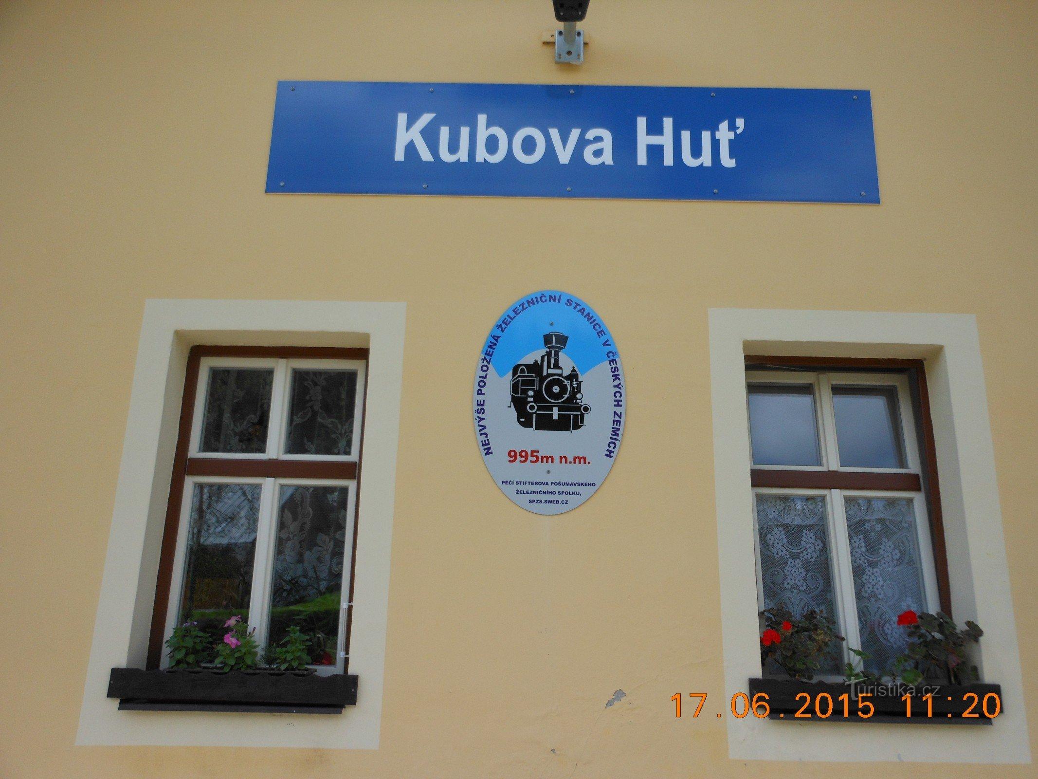 Kubova Huť - nejvýše položené nádraží v Čechách