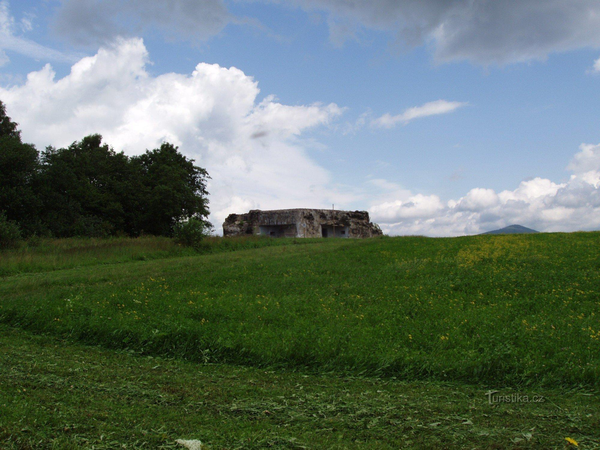 """Pěchotní srub K – S 15 """" U lípy"""" v katastru města Králíky v Orlických horách"""