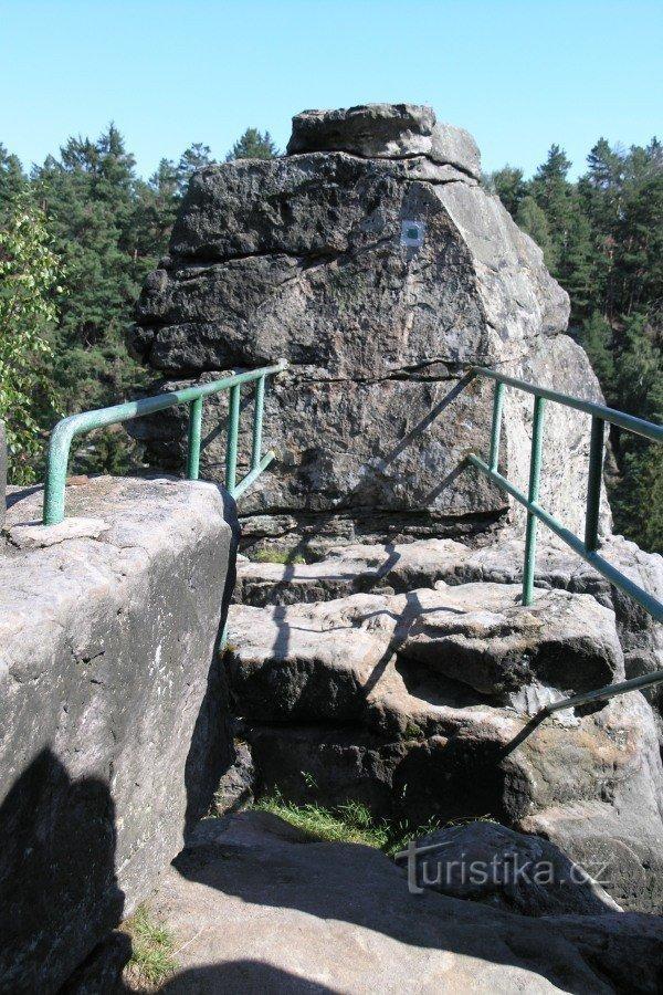 Prachovské skály - Ervínův hrad