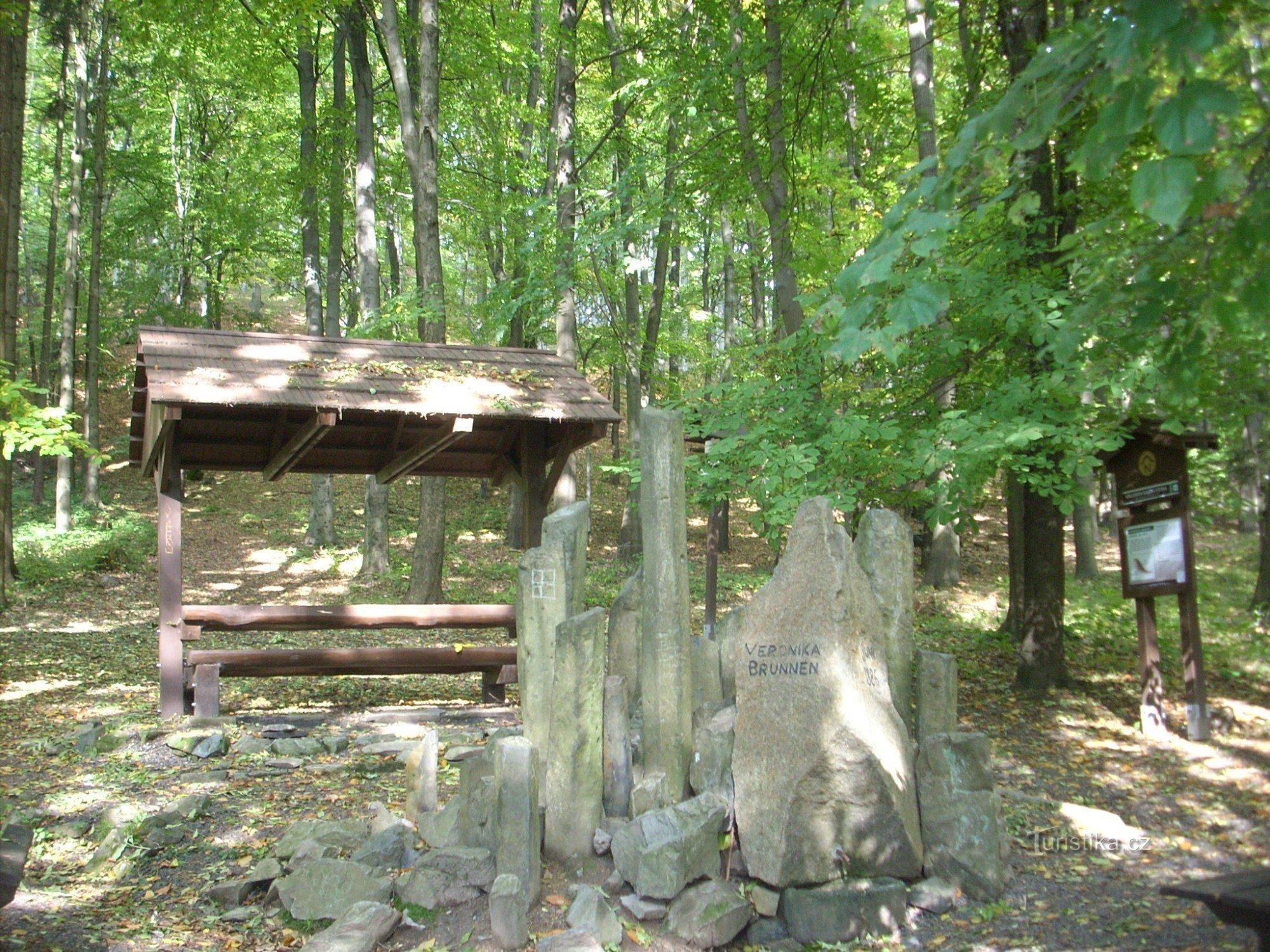 Romantické posezení u Verunčiny studánky