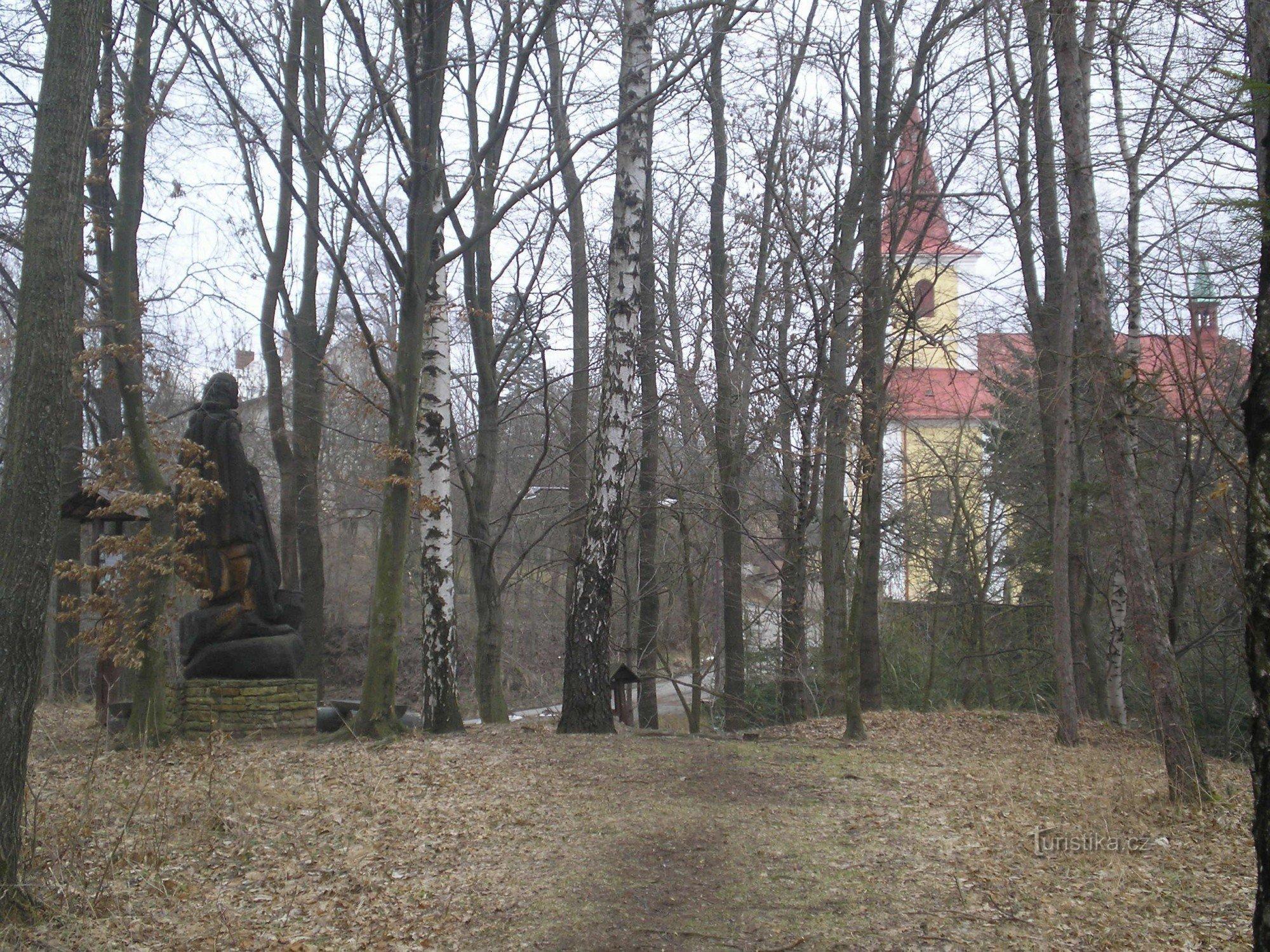 Skuhrov nad Bělou-kostel