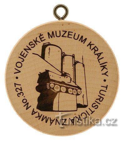 Turistická známka č. 327 - Vojenské muzeum Králíky
