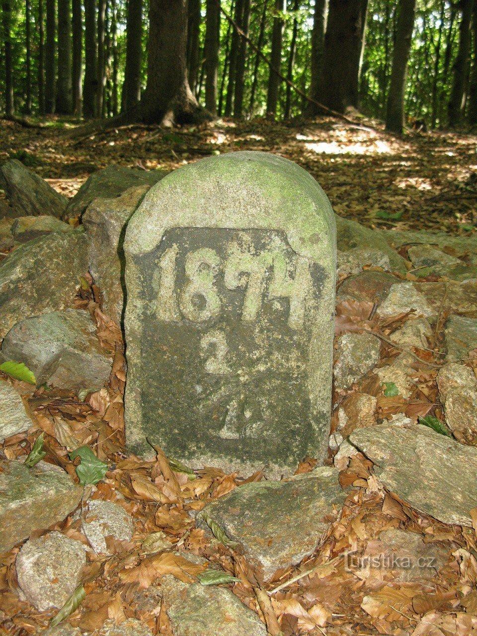 Vlčí kámen u Lipky - Šumava