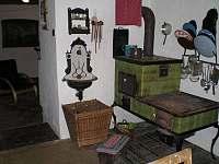Kuchyň - chalupa ubytování Branišov