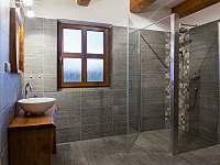 koupelna v přízemí - pronájem chalupy Kameničky