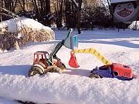 pískoviště v zimě - Větrný Jeníkov