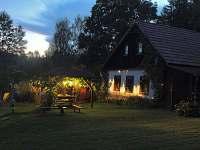 západ slunce - chata ubytování Větrný Jeníkov