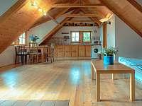 obývací pokoj s kuchyňkou - apartmán ubytování Velká Bíteš - Jestřabí