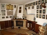 obývací pokoj - chalupa ubytování Stržanov - Žďár nad Sázavou