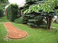 zahrada - dráha pro minigolf - Stržanov - Žďár nad Sázavou