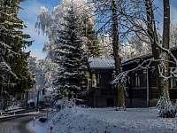 Zima je tady krásná. - chata ubytování Hlinsko na Vysočině