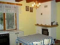 Kuchyň - chalupa ubytování Svépravice