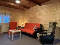 Obývací pokoj - chata ubytování Březí nad Oslavou