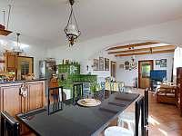 Obývací místnost - chalupa ubytování Prosetín u Bystřice nad Perštejnem