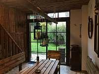 Společenská místnost - chalupa ubytování Moraveč