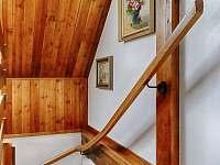 Dřevěné schodiště s obrazy od autorů z Vysočiny - Proseč - Martinice