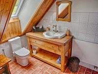 Koupelna s toaletou v prvním patře - roubenka k pronajmutí Proseč - Martinice