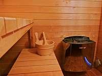 Prostorná sauna - pronájem roubenky