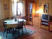 obývací místnost v přízemí - pronájem chaty Čejov
