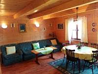 obývací pokoj - chata k pronajmutí Čejov