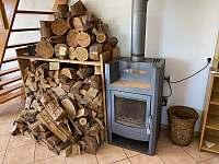 dostatek dřeva pro krbová kamna - chalupa k pronajmutí Seč - Proseč