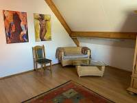 relaxační zóna v první ložnici - chalupa k pronajmutí Seč - Proseč