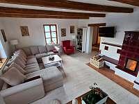 Obývací pokoj - chalupa k pronajmutí Daňkovice