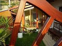 Pohled na verandu - chalupa ubytování Hroubovice