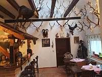 Lovecká místnost s výčepem piva a Kofoly - chalupa k pronájmu Kameničky