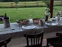 Pohled z letní kuchyně - Kameničky