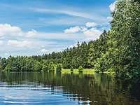 soukromý koupací rybník s pláží pro hosty - Rejčkov