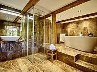 Koupelna přízemí - pronájem roubenky Moravské Křižánky