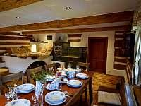 Obývací pokoj - roubenka ubytování Moravské Křižánky