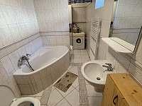 Koupelna v přízemí - pronájem chalupy Trnava