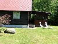 Chata 2 - terasa - ubytování Polesí u Počátek