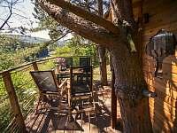 Treehouse Stvořidla - srub k pronájmu Leštinka