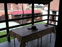 Pohled z terasy na dvůr