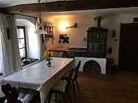 Kuchyně s kachlovými kamny - Nový Rychnov