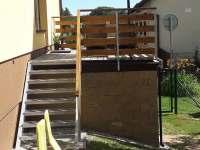 Terasa - pronájem chalupy Pivonice u Bystřice nad Pernštejnem
