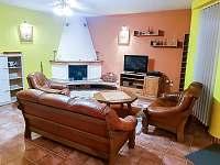 Obývací pokoj - vila ubytování Chlum